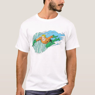 Aquaman salta a la izquierda playera