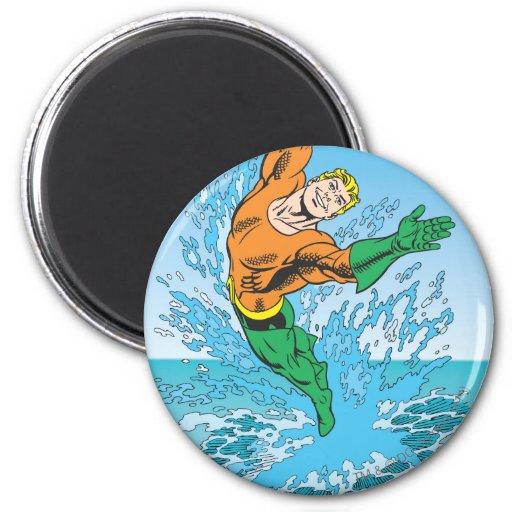 Aquaman salta del mar imán para frigorifico