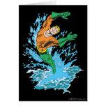 Aquaman salta en onda tarjeta de felicitación