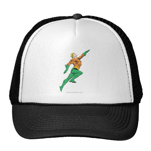 Aquaman salta para arriba gorras de camionero