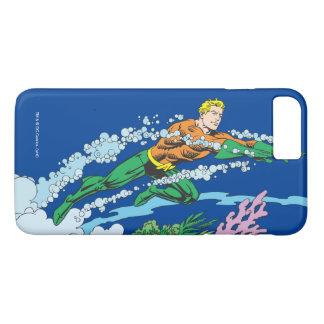 Aquaman salta sobre coral funda iPhone 7 plus