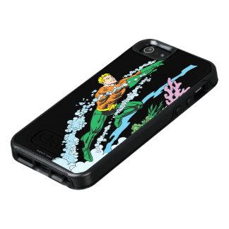 Aquaman salta sobre coral funda otterbox para iPhone 5/5s/SE