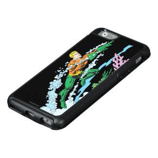 Aquaman salta sobre coral funda otterbox para iPhone 6/6s
