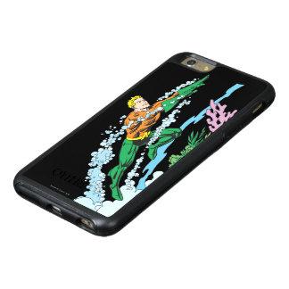 Aquaman salta sobre coral funda otterbox para iPhone 6/6s plus
