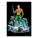 Aquaman se coloca con el Pitchfork Tarjeta De Felicitación