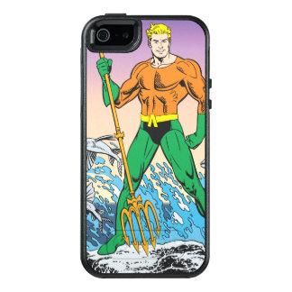 Aquaman se coloca con la lanza funda otterbox para iPhone 5/5s/SE
