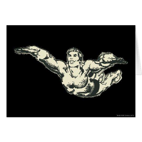 Aquaman Soars BW Card