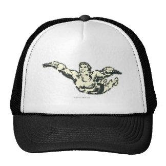 Aquaman Soars BW Mesh Hat