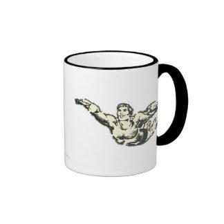 Aquaman Soars BW Mugs