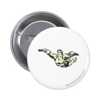 Aquaman Soars BW Pin
