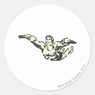Aquaman Soars BW Stickers