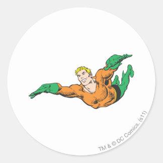 Aquaman Soars Classic Round Sticker