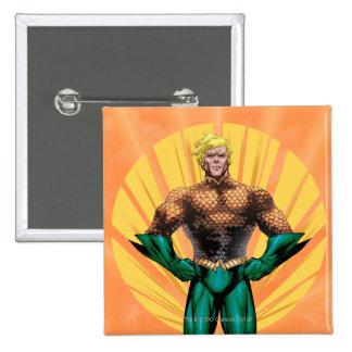 Aquaman Standing 2 Inch Square Button