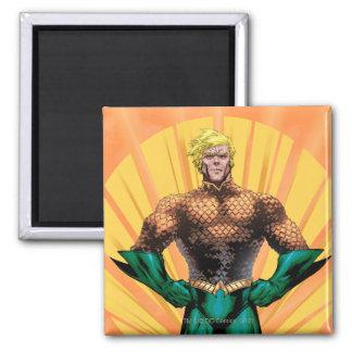 Aquaman Standing 2 Inch Square Magnet