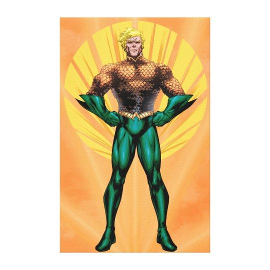 Aquaman Standing Canvas Print