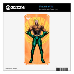 Aquaman Standing Decals For The iPhone 4