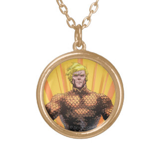 Aquaman Standing Gold Plated Necklace