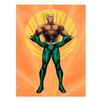 justice league new 52, jl new52, superman, wonder woman, aquaman, flash, cyborg, darkseid, batman, green lantern, dc comics, comic book covers, super heroes, Postcard with custom graphic design