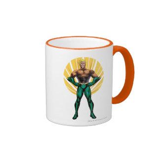 Aquaman Standing Ringer Coffee Mug