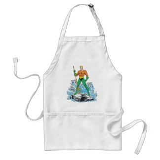 Aquaman Stands with Pitchfork Adult Apron