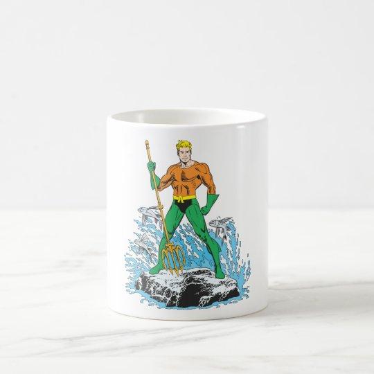 Aquaman Stands with Pitchfork Coffee Mug