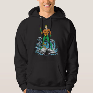 Aquaman Stands with Pitchfork Hooded Sweatshirt