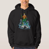 Aquaman Stands with Pitchfork Hoodie