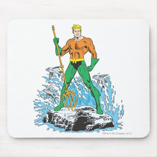 Aquaman Stands with Pitchfork Mouse Pad
