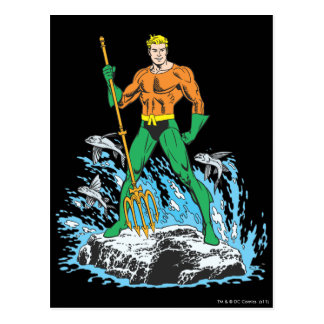 Aquaman Stands with Pitchfork Postcards
