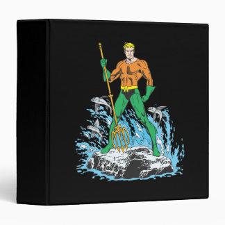 Aquaman Stands with Pitchfork Vinyl Binders