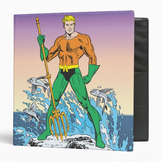 Aquaman Stands With Spear Binder