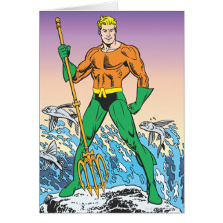 Aquaman Stands With Spear Card