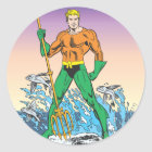 Aquaman Stands With Spear Classic Round Sticker