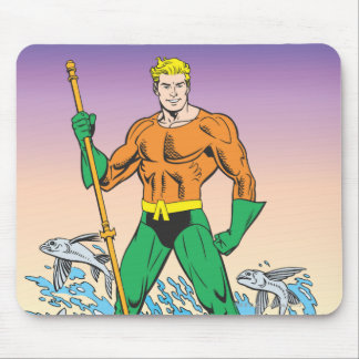 Aquaman Stands With Spear Mouse Pad