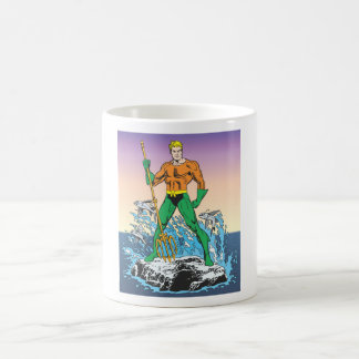 Aquaman Stands With Spear Classic White Coffee Mug