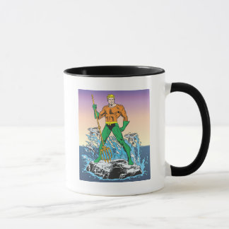 Aquaman Stands With Spear Mug