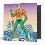 Aquaman Stands With Spear Vinyl Binder