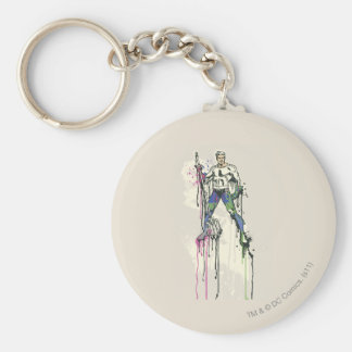 Aquaman - Twisted Innocence Color Basic Round Button Keychain