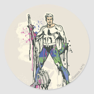 Aquaman - Twisted Innocence Color Classic Round Sticker