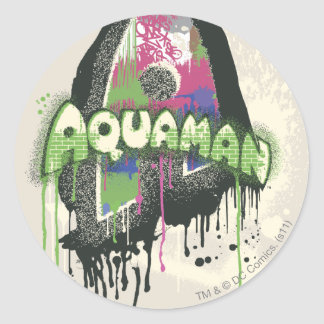 Aquaman - Twisted Innocence Letter Classic Round Sticker