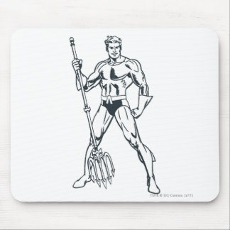 Aquaman with Pitchfork BW Mouse Pads