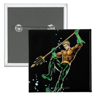 Aquaman with Spear 2 Inch Square Button