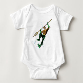 Aquaman with Spear Baby Bodysuit