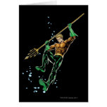 Aquaman with Spear Greeting Card