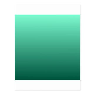 Aquamarine a la pendiente horizontal verde de postales