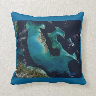 Aquamarine Abstract Bahamas Pillow