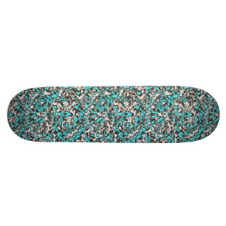 Aquamarine Abstract Skateboard Deck