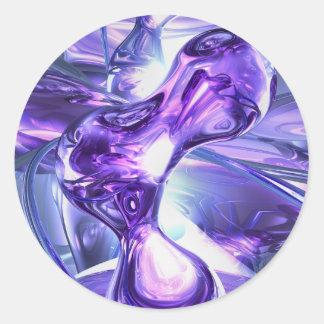 Aquamarine Abstract Sticker