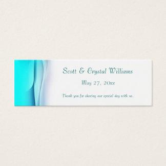 Aquamarine Abstract Wedding Favor Card