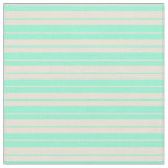 [ Thumbnail: Aquamarine and Bisque Colored Lined Pattern Fabric ]